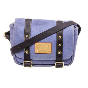 Louis Vuitton Blue Canvas Antigua Messenger Bag